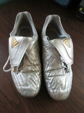 Adidas Adiprene Silver & Gold Predator Indoor Soccer Cleats Mens Size 6.5
