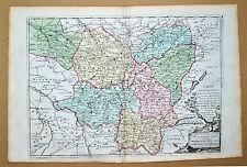 Superbe carte Côte d'or Saone et Loire Haute saone...1790 coloris époque TBE