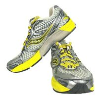 Saucony Guide 5 Running Shoes Gray Yellow Walking Sneakers Womens Size 8 10140-5