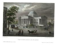 St. Louis Missouri Courthouse 1840-50 lovely street view print fine hand color