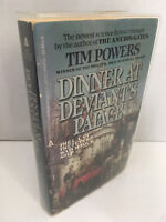 Dinner at Deviant's Palace by Tim Powers 1985 Paperback SIGNED Ace Edition