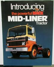 1981 Mack Trucks Mid Liner Tractor Specifications Sales Brochure Original