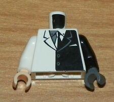 LEGO Batman - Torso Suit w/ Black Half Panel,  Black Arm Left / White Arm Right