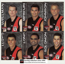 2012 Essendon 2000 AFL Premiership 10th Anniversary Collector Card Set (25)