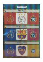 FIFA 365 Adrenalyn XL - Nr. 1 AFC Ajax, FC Barcelona & Boca Juniors - Logos