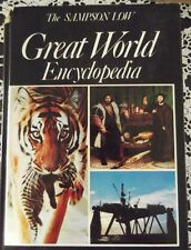 1976 GREAT WORLD ENCYCLOPEDIA, SAMPSON LOW, HARDCOVER, PICTORIAL REFERENCE BOOK