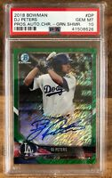 2018 Bowman Chrome Green Shimmer Refractor DJ Peters RC AUTO /99 PSA 10 Gem Mint