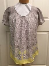 Maternity Top Tunic Silky Gray XL XLarge