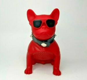 "Mini Portable Wireless Bulldog Bluetoot Speaker 5"" Tall  Red,Black,White Colors"