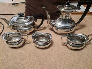 Silver-plate tea/coffee set Crafton Sheffield England