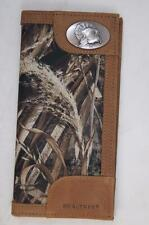 ZEP-PRO TURKEY Leather & Nylon REALTREE MAX-5  Roper Camo WALLET TIN GIFT BOX