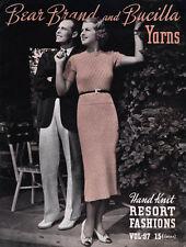 Bear Brand #97 c.1936 - Vintage Hand Knitting Patterns Resort Fashions for Women