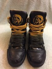 Diesel High Top Sneakers I'm Pression Mid Limited Edition Black Sz Us 10 Eu 43