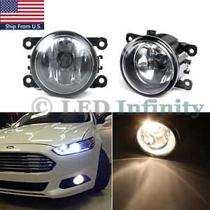 Fog Light Lamps with H11 Bulbs Driver Passenger Sides for Ford Explorer Fusion