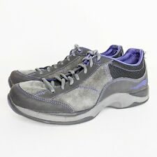 Dansko Sabrina Suede Sneakers Shoes Women Size 40 US 9.5 10 Purple Gray Non Slip