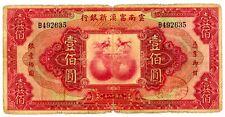 China . P-S3000 . 100 Dollars . 1929 . *Vg-F*.