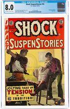 Shock SuspenStories 16 CGC 8.0 OW/W GORGEOUS EC Brutal Beating Bondage 1954 Rape