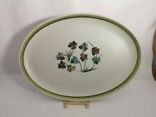 "Denby Shamrock ENGLAND 12 3/4"" Oval Serving Platter in Excellent Condition"