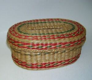 Woven Rattan Sewing Basket