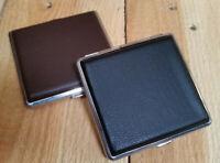 Metall Zigaretten-Etui Zigarettenbox Zigarettenetui verfügbar in braun & schwarz