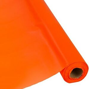 """Plastic Banquet Party Table Cover Roll - 40"""" x 300 Feet - Disposable Tablecloths"""