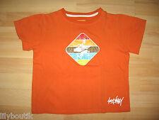 SUN VALLEY - T-shirt orange imprimé surf ♥ Taille 6 ans ♥ TBE !!!!