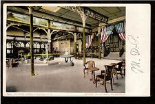 1904 interior flags HathornSpring Saratoga New York postcard
