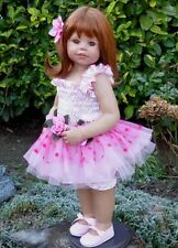 "Masterpiece Saturday's Child Monika Levenig 29"" Strawberry Blonde Vinyl Doll"