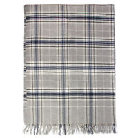 Details about  /Danish Military Gray Wool Blankets blue pin stripes