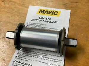 Mavic URD 610 cartride bottom bracket with seals, instruction NOS 114 spindle