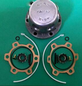 NEW Land Rover Series FAIREY Free Wheel Hub Seal Kit & PLASTIC INSERTS RTC7136