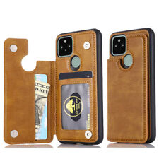 For Google Pixel 5/4a 5G/4a Leather Magnetic Wallet Card Pocket Back Cover Case