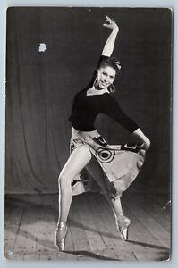 1963 KARELSKAYA in Path of Thunder Ballet RARE RPPC Russian Photo Postcard