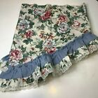 vintage+curtain+valance+floral+blue+rose+design+ruffled+lace+edge+scalloped