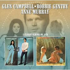 Bobbie Gentry - Bobbie Gentry & Glen Campbell / Anne Murray & Glen [New CD] UK -