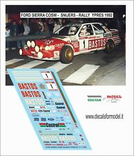 DECALS 1/43 FORD SIERRA COSW SNIJERS RALLY YPRES 1992