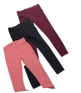 NEW Girls Skinny Jeggings Jeans Slim Fit Ex Dunnes Cotton Trousers 3 to 12 Years