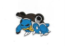 "4"" Blastoise water Pokemon Go Iron On Patch Embroidered Applique Sew/Iron on"