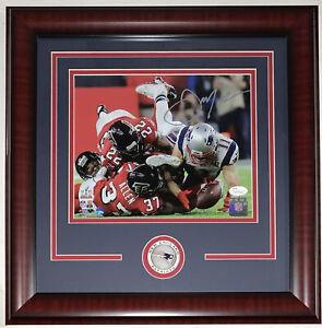 Julian Edelman Patriots signed Super 51 Bowl Catch 8x10 photo Framed Steiner COA