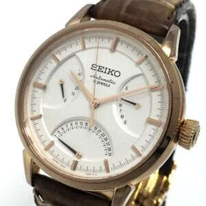 SEIKO 6R24-00D0 Day Date Presage Power Reserve Automatic Wristwatch