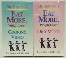 Lot of 2 Dr. Shintani's Eat More Weigh Less Diet & Cooking Videos VHS NEW