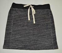 NWT Ann Taylor Loft Women's S Jersey Knit Skirt, Black/Gray Sporty Comfort