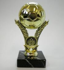 Personalised 4.25 Gold Tone Football Trophy