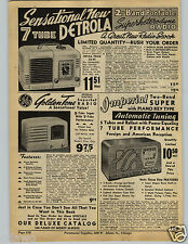 1941 PAPER AD Detrola Desk Table Radio GE Goldentone Imperial Stewart Warner