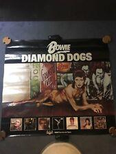 VERY RARE DAVID BOWIE ORIGINAL 1974 DIAMOND DOGS RCA RECORDS PROMOTIONAL POSTER