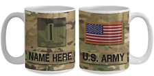 US Army Personalized Officer Mug|Chief|CW5 US Army Gift for Dad/Mom/Son/Daughter