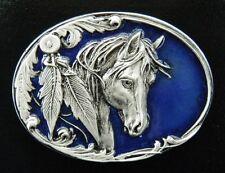 Western Horses Southern Rodeos Cowgirls Cowboys Belt Buckle Boucle de Ceinture