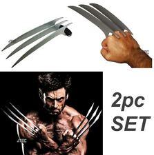 2Pc Set Xmen Wolverine Claw Stainless Steel Xclaw Fantasy Knife Replica