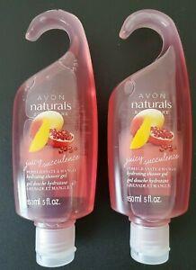 Avon Naturals Pomegranate & Mango Hydrating Shower Gel - Lot of 2