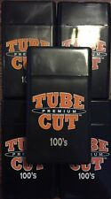 5 Gambler Tube Cut 100's Size Cigarette Case Hard Flip Top Black Heavy Duty Box